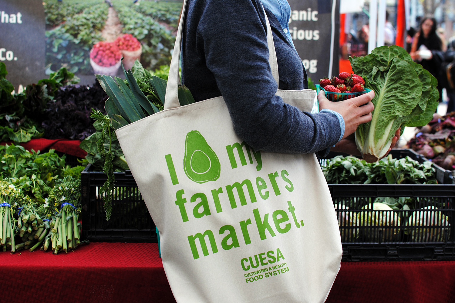 Market Tote~Support local farmers~If you ate today thank a farmer~Shopping Bag