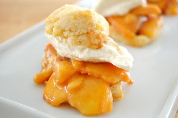 Caramel Peach Shortcakes with Bourbon Cream | CUESA