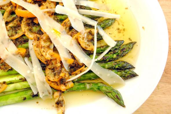 Grilled Asparagus with Meyer Lemon Brown Butter and Parmigiano ...
