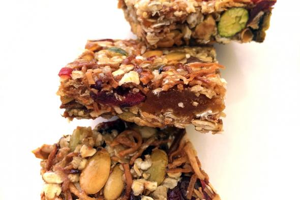 Dried Stone Fruit Granola Bars Cuesa