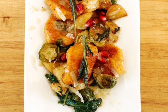 Butternut Squash Gnocchi, Roasted Brussels Sprouts, Apples ...